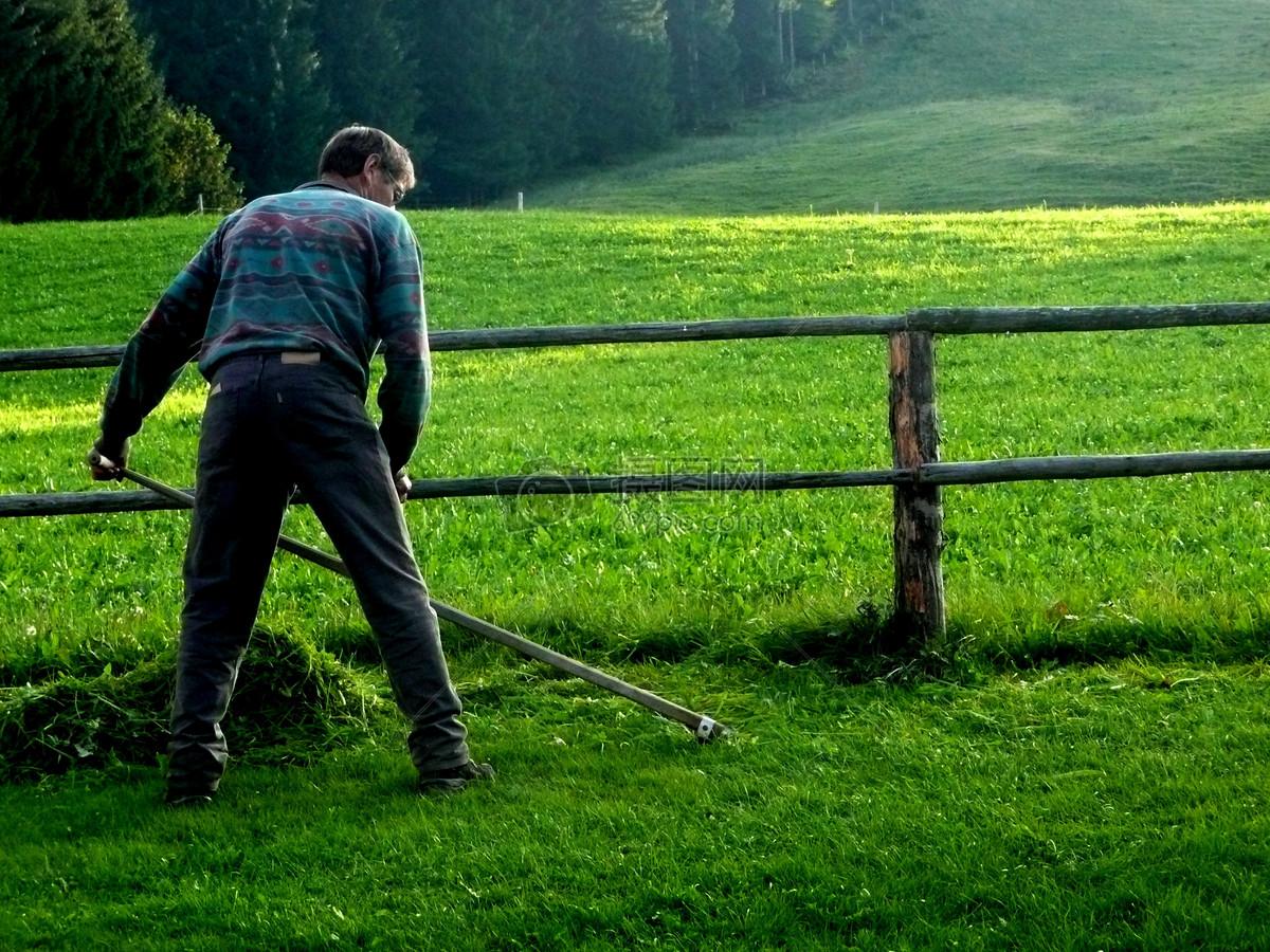 辛勤劳作的农夫