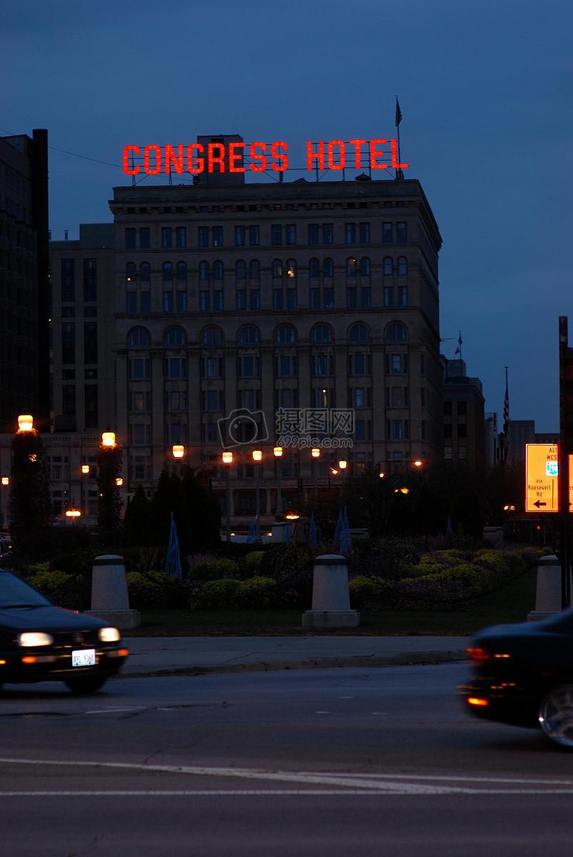 夜晚城市的街角高清图片免费下载_jpg格式_2592像素
